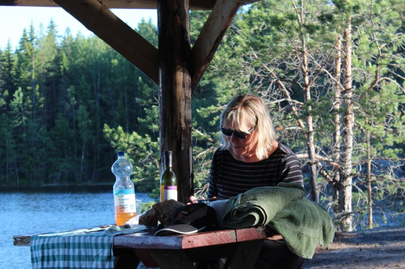 Preparing for a sauna evening and planning hikes