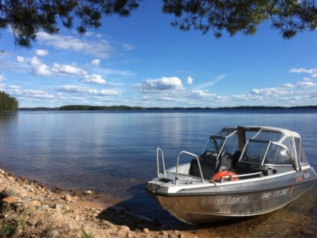 Water taxi to Pyysalo, Southern Konnevesi National Park