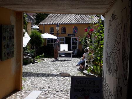 Aalborg gamle by courtyard