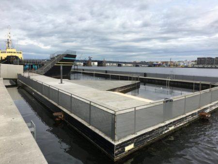 Aalborg harbor pool and Limfjorden