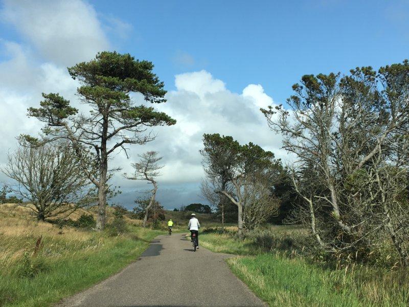 Biking route in North Jutland, Denmark