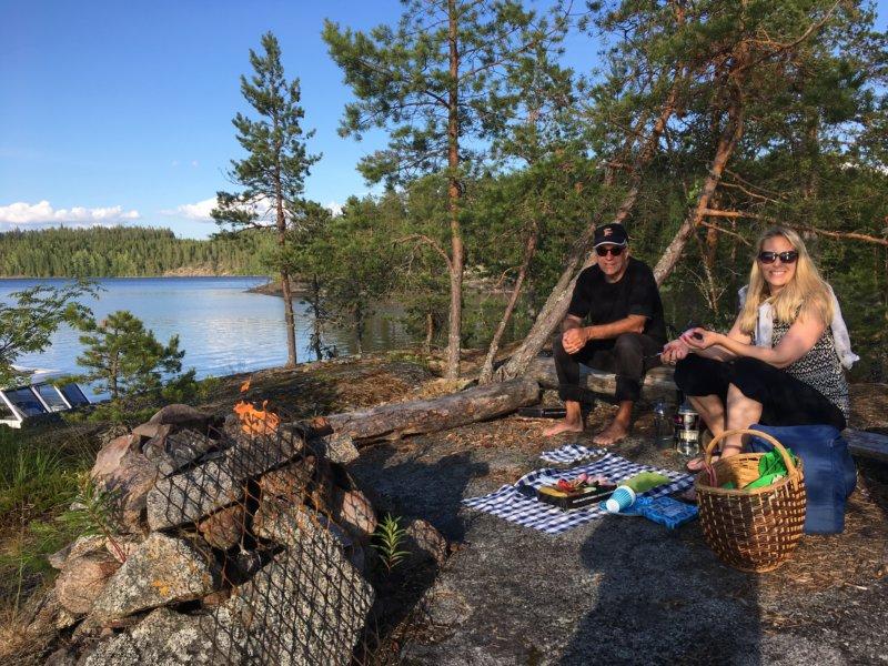 Camping on a Lake Näsijärvi island