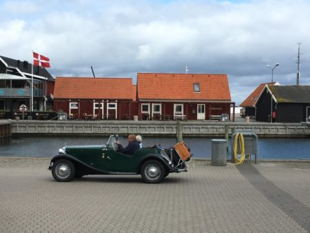 Driving in Saeby harbor