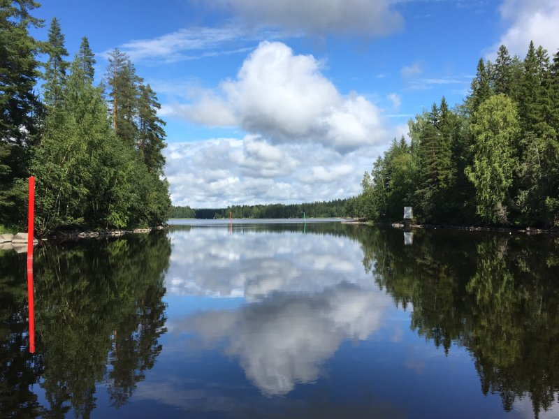 Finnish inland lake boat route