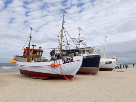 Fishing boats on Lokken beach