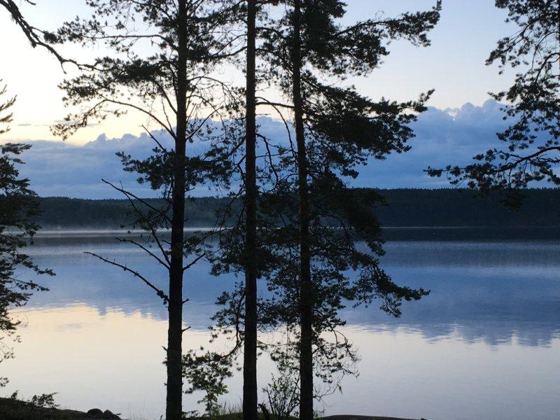 Lake Näsijärvi reflections, after sunset