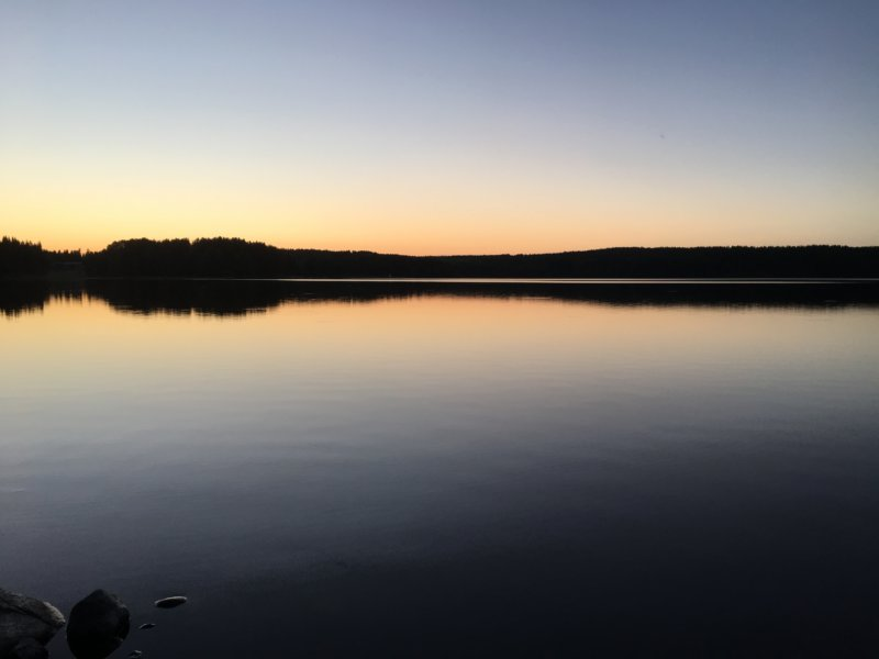 Lake after sunset, Finland