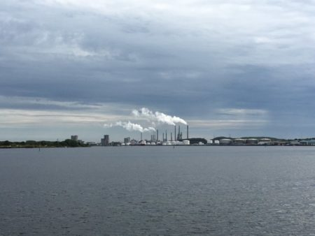 Limfjorden and Aalborg industrial area