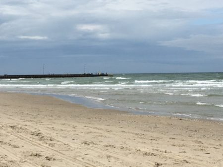 Lokken beach and pier, North Jutland