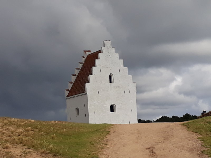 Places to visit in Denmark: the sand-buried church