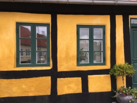 Saeby old town house wall