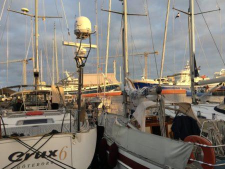 Skagen harbor sailing boats