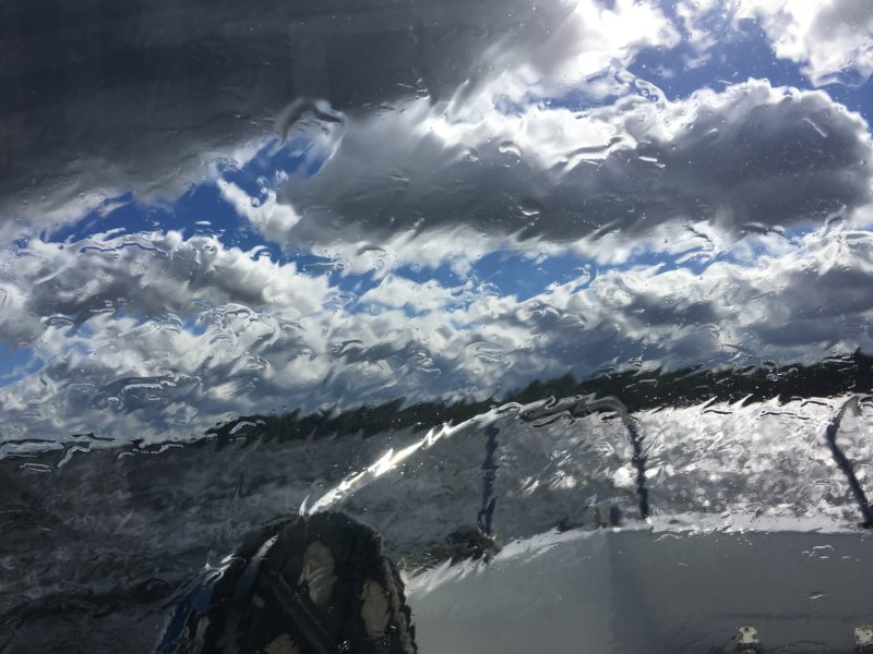 Storm on a Finnish lake