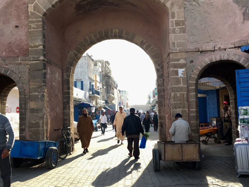 Places fo visit in Essaouira: city gate
