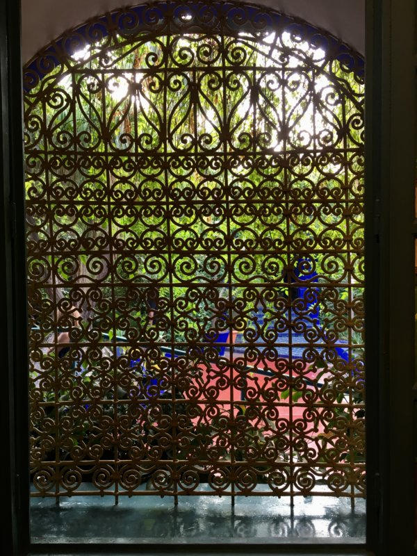 Gate in the Majorelle Gardens