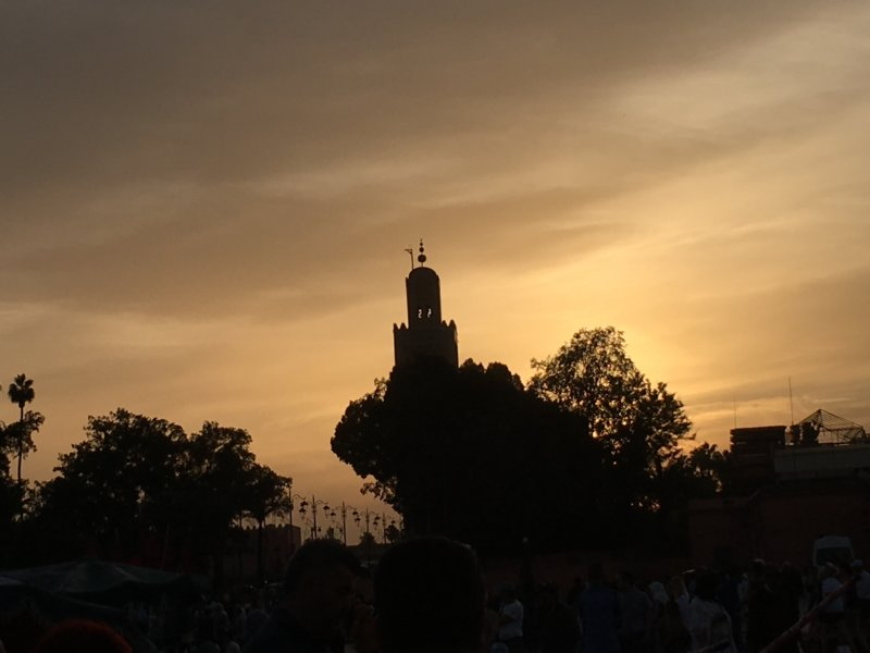 Jemaa el-Fna mosque view