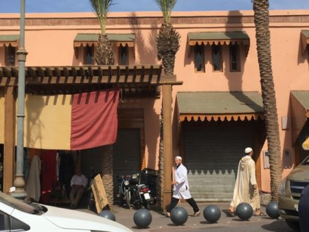 Marrakech Medina men walking