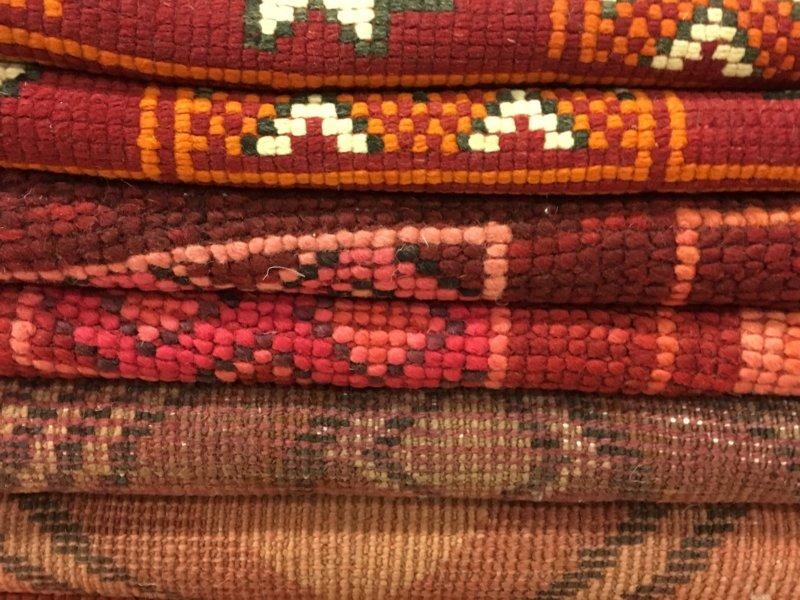 Marrakech souk: carpets