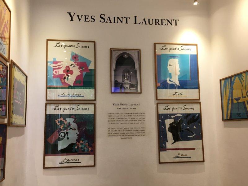 Yves Saint Laurent art in Majorelle Gardens, Marrakech