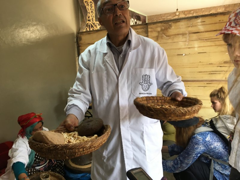 Presenting argan oil production