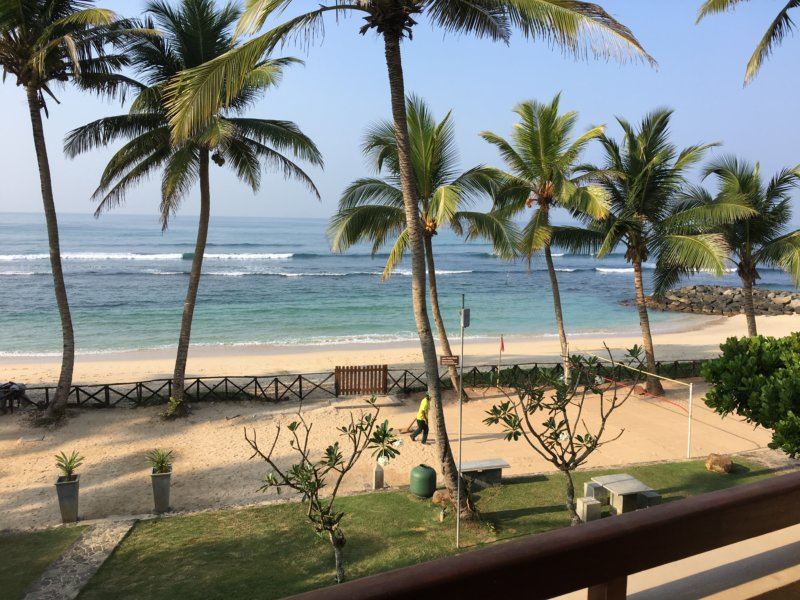 Ahangama Beach from Insight Resort, Sri Lanka