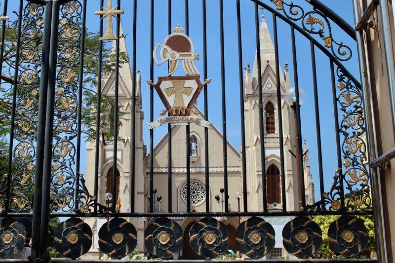 Christian church on Sri Lanka West Coast
