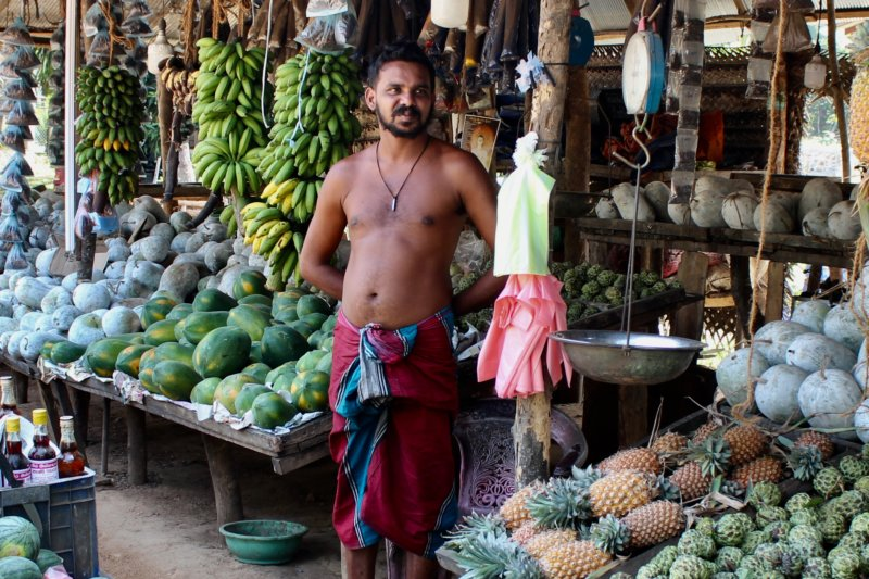 Fruit seller, Sri Lanka