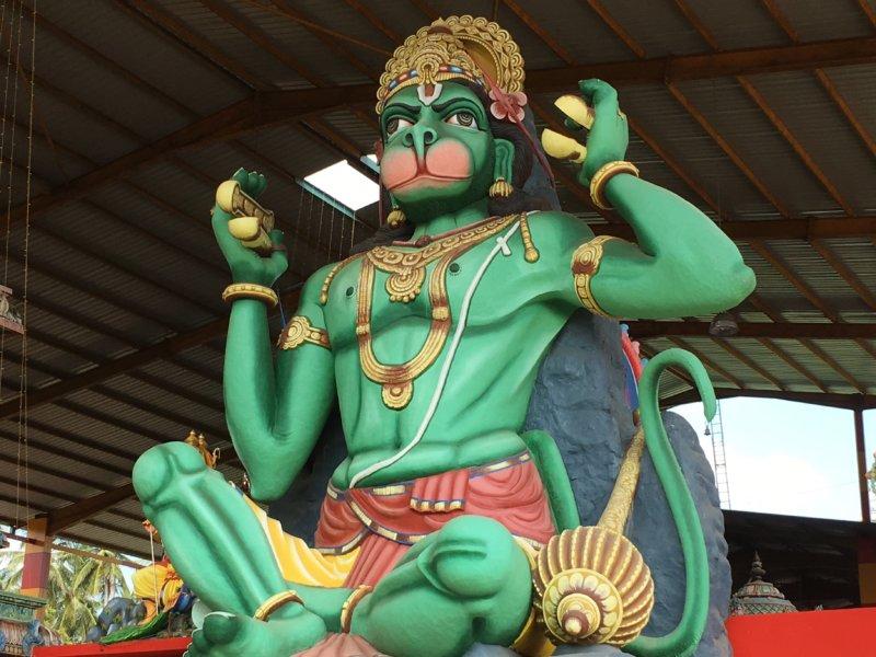 Hindu temple monkey statue