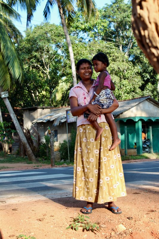 Mother and child, Sri Lanka