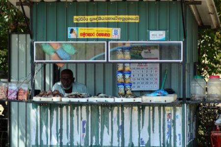 Seafood stall in Kalpitiya, Sri Lanka