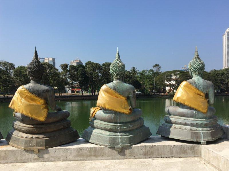 Seema Malaka stone Buddhas
