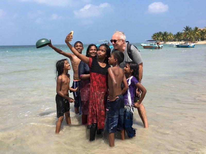 Selfie with locals, Sri Lanka's East Coast