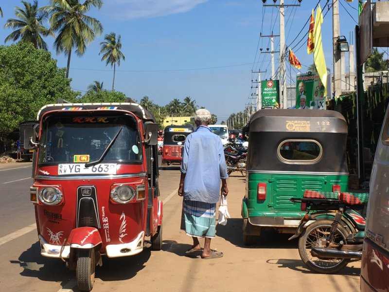 Tuk tuks and village life, Sri Lanka