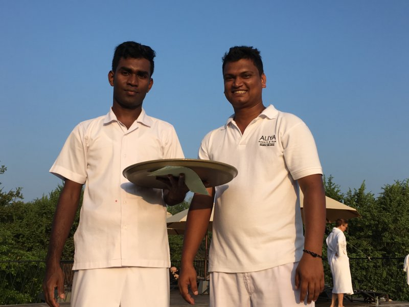 Aliya Resort waiters