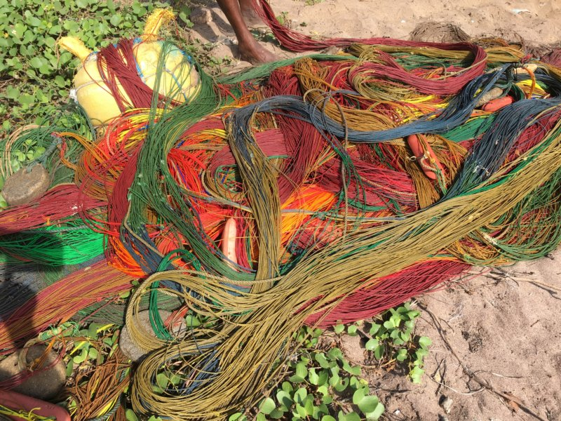 Colorful fishing net