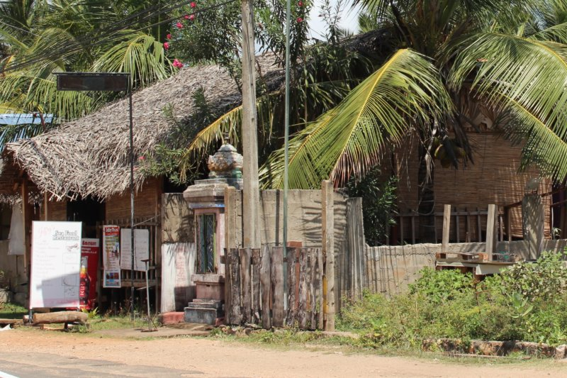 Sri Lanka coconut thatched house