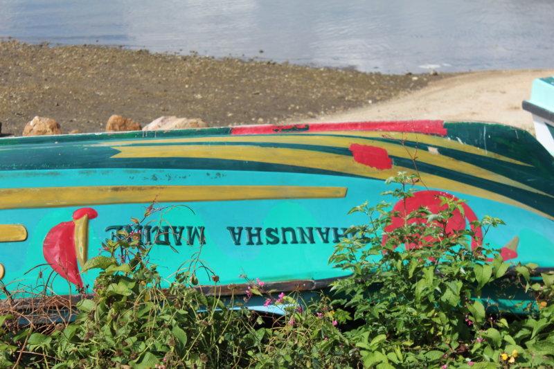 Sri Lanka East coast lagoonside boat