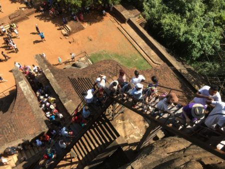 Stairs from Lion Platform to Sigiriya Rock