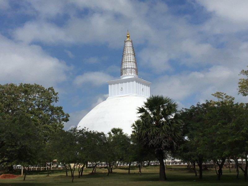 View of Ruwanwelisiya Dagoba, Anuradhapura