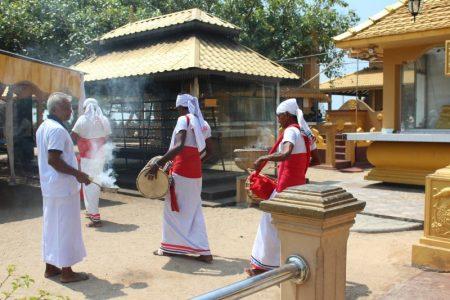 Buddhist temple procession, Sri Lanka's South Coast