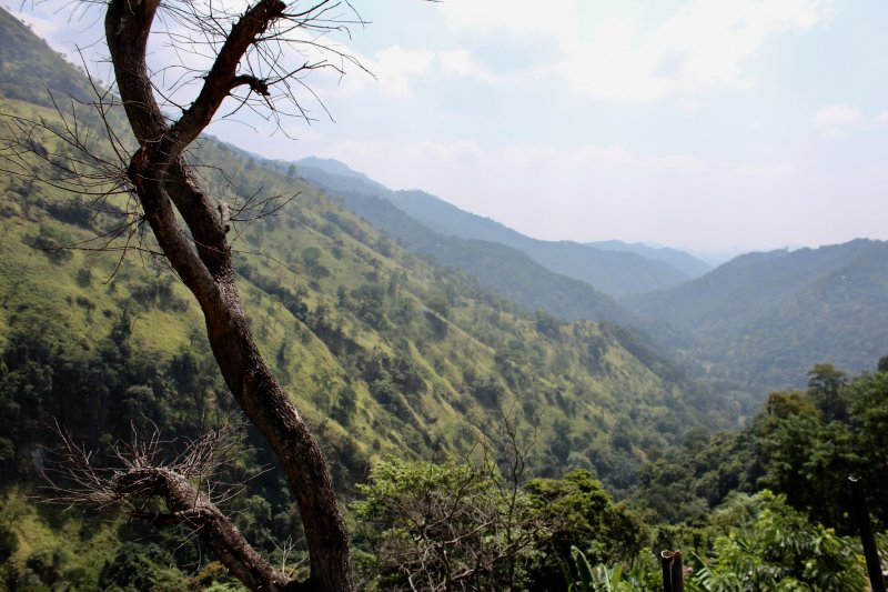 Ella Gorge, from Nuwara Eliya to South Coast