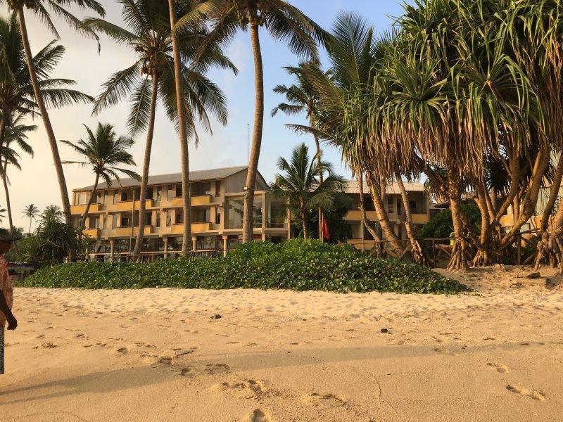 Insight Resort from Ahangama beach