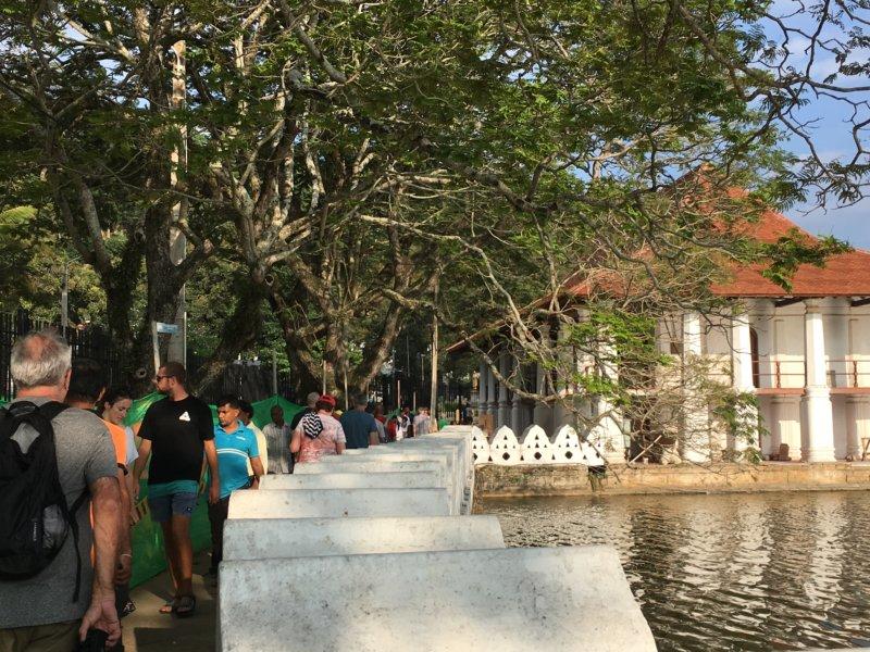 Kandy lakeside promenade