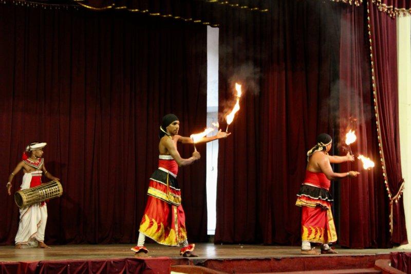 Kandyan dance fire show
