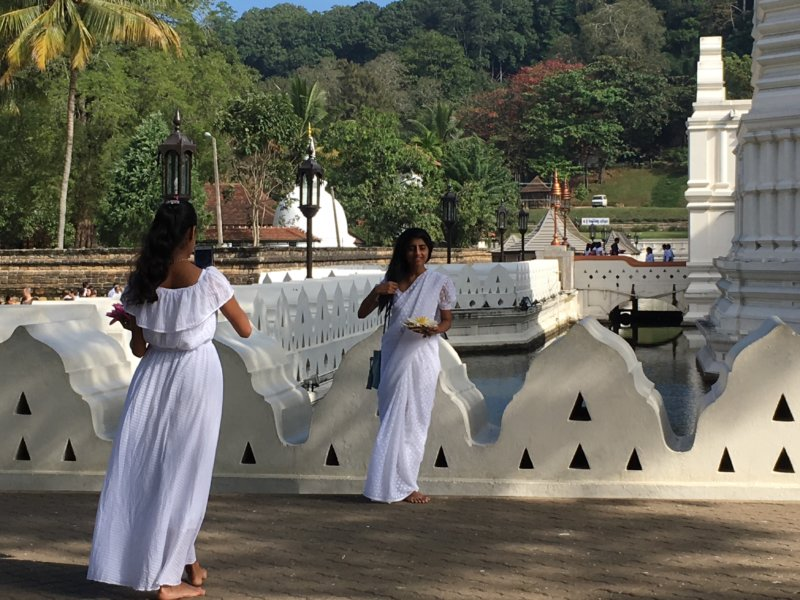 Temple of the Tooth visitors, Kandy