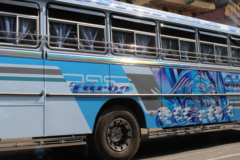Typical Sri Lankan bus