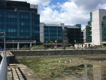 Canal and office buildings, Dublin