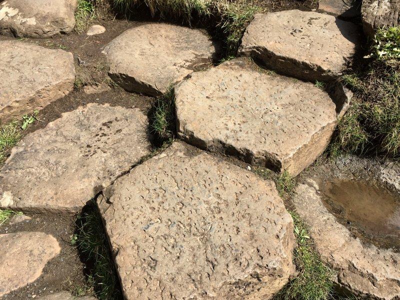 Formed stones of Giants Causeway