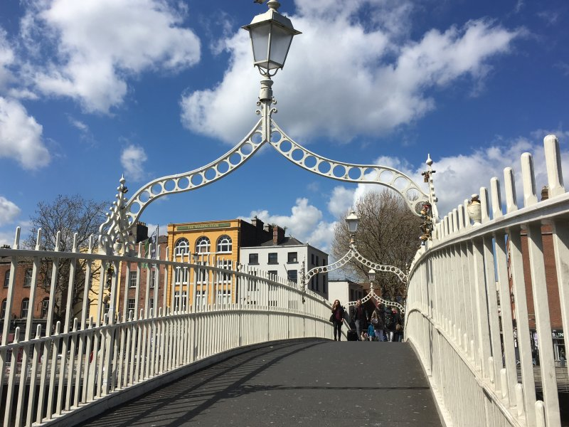 Ha'penny bridge, self-guided Dublin walking tour