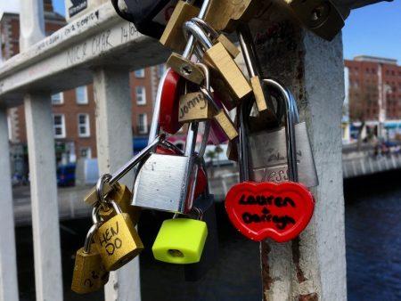 Ha'penny bridge locks